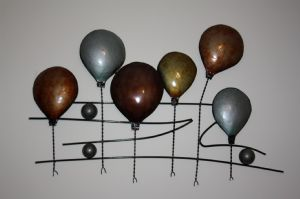 Balloon Race Metal Wall Art now with free UK P&P!
